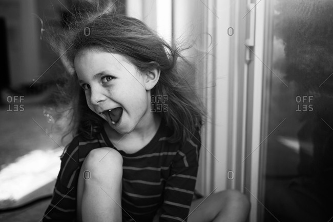 Portrait of a laughing girl