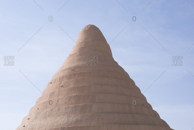 Cone-shaped historical structure in Iran
