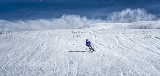 Downhill ski mountaineering, Les Contamines,
