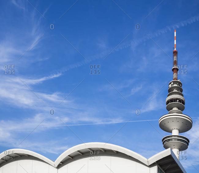 Hamburg, Germany - August 31, 2015: View to Heinrich-Hertz Tower, Hamburg