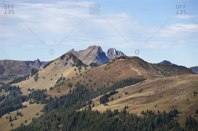 View of Ellmau valley, Radstaetter Tauern, Panorama