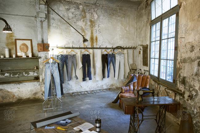 Interior of a fashion designer's workshop