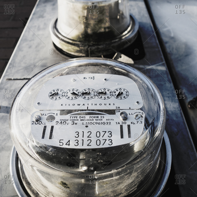 Dial of electric meter - Offset