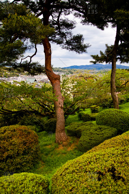 A distant view of Kanazawa from Kenroku-en Park
