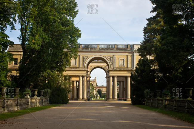 Palace arches in Sanssouci Park, Potsdam, Germany