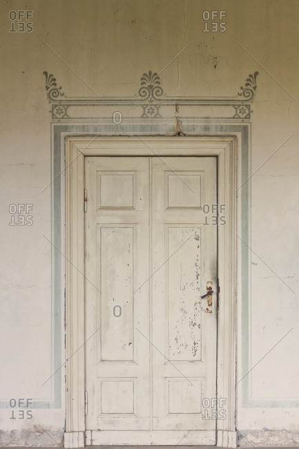 Doorway at the Roman Baths in Sanssouci Park, Potsdam, Germany