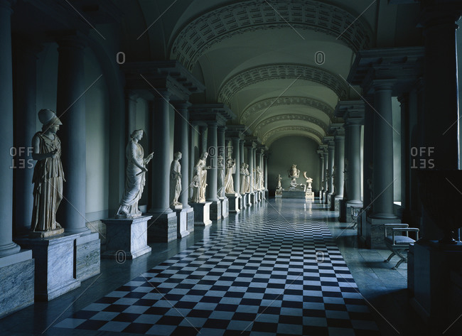 Colonnade in Stockholm's palace, Sweden