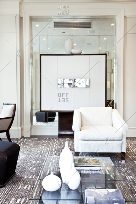 New York, NY - June 5, 2012: Sitting area in an upscale apartment on Park Avenue in New York City