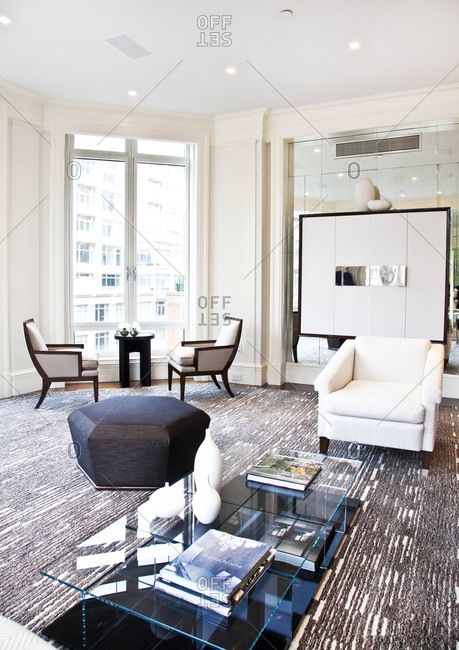 New York, NY - June 5, 2012: Interior of an upscale apartment on Park Avenue in New York City