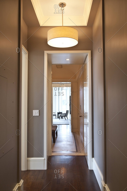 New York, NY - June 5, 2012: Hallway in an upscale apartment on Park Avenue in New York City