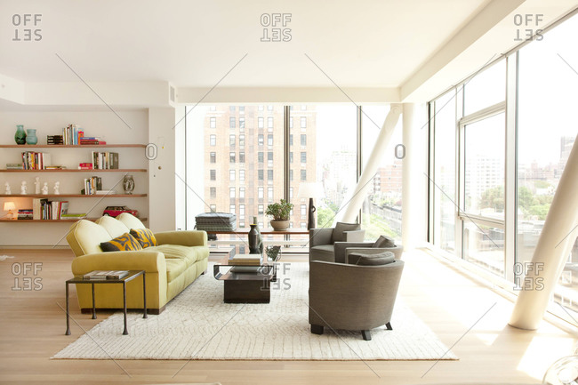 New York, NY - June 13, 2011: Interior of a condo in the HL23 Building in West Chelsea, New York City