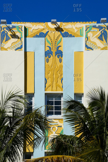 Colorful building in South Beach, FL