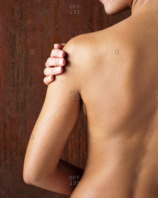 Bare side and back of woman