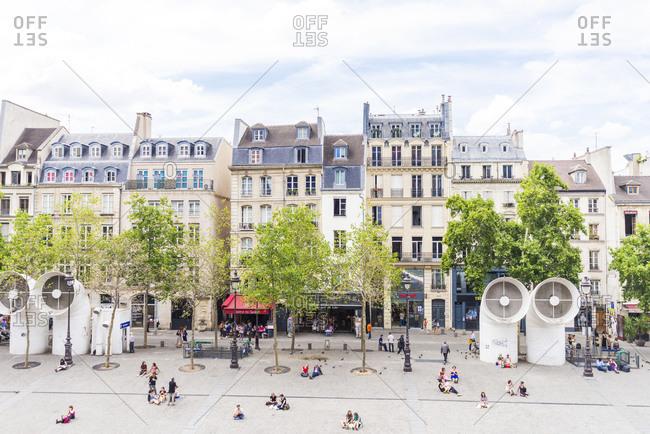 Paris, France: Giant air vents in a public plaza in Paris