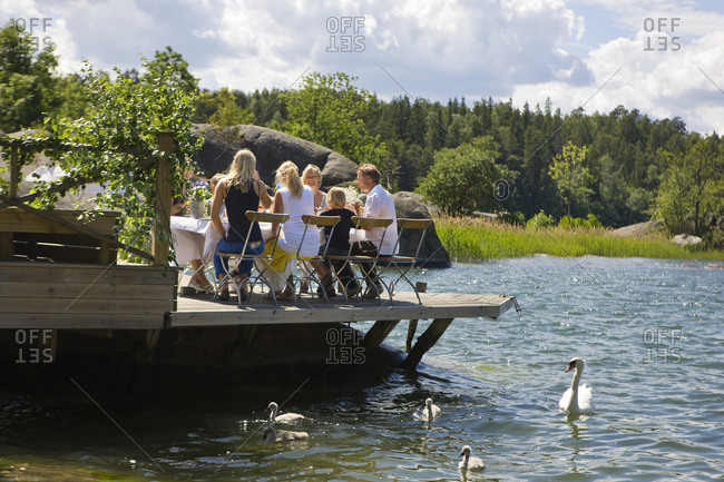 Midsummer party in the archipelago of Stockholm