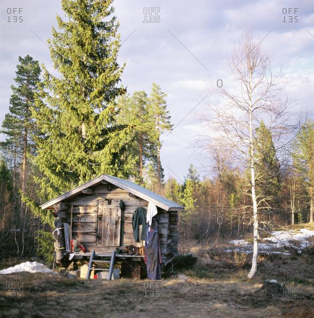 An old log cabin