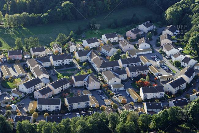 View of suburban houses