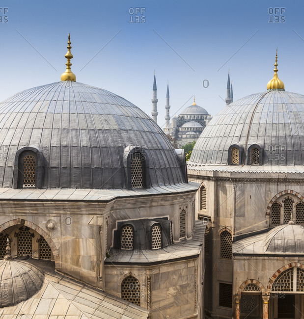 View of Hagia Sophia and Sultan Ahmed Mosque