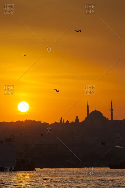 Sunset over Golden Horn - Offset