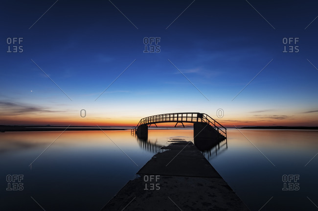 The bridge to nowhere, Belhaven Bridge in United Kingdom, Scotland