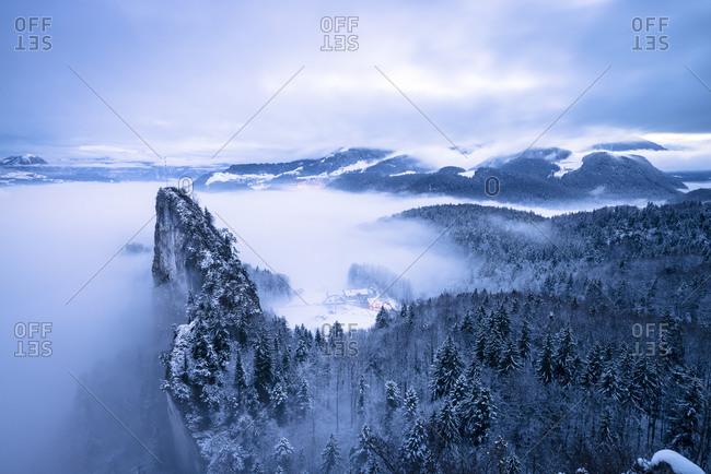 Berchtesgaden Alps from above - Offset