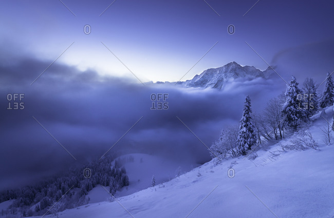 Berchtesgaden Alps, Hoher Goell at night