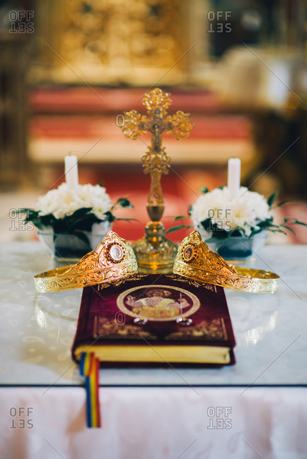 Altar set for wedding