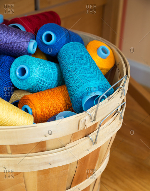 Basket of various threads
