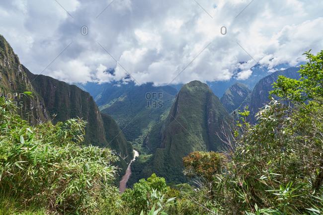 Urubamba River running through Machu Picchu, Peru
