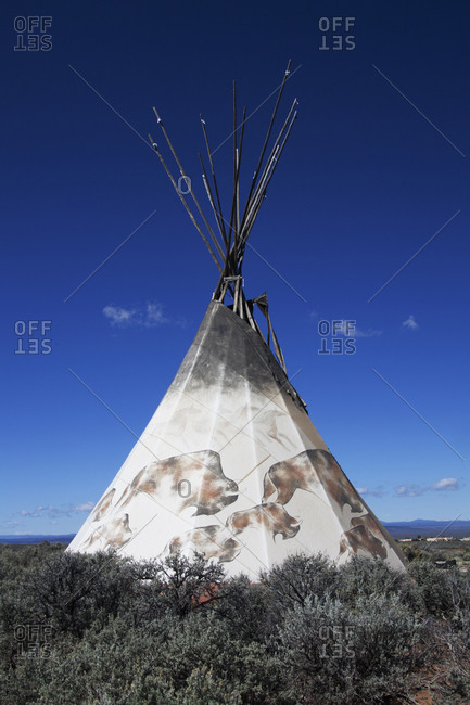 Teepee in remote field