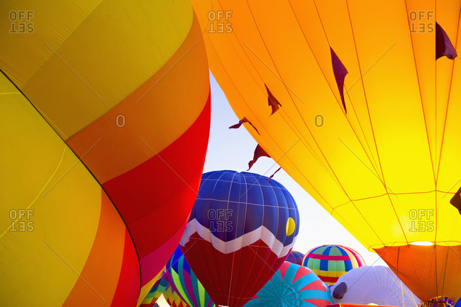 Group of hot air balloons