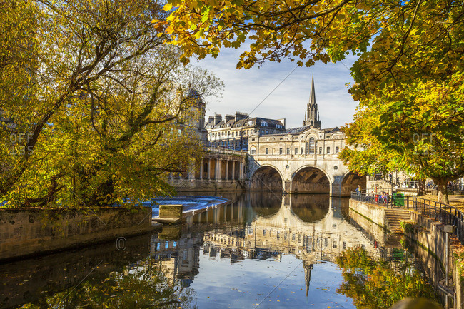 River Avon in Bath, UK