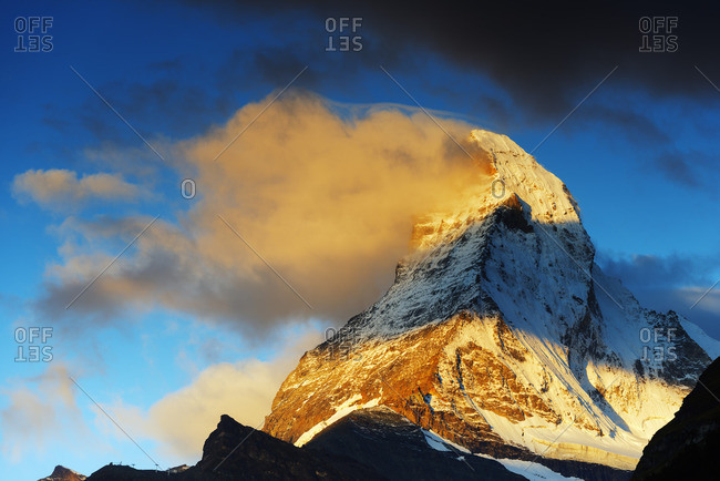Sunrise on the Matterhorn, Switzerland