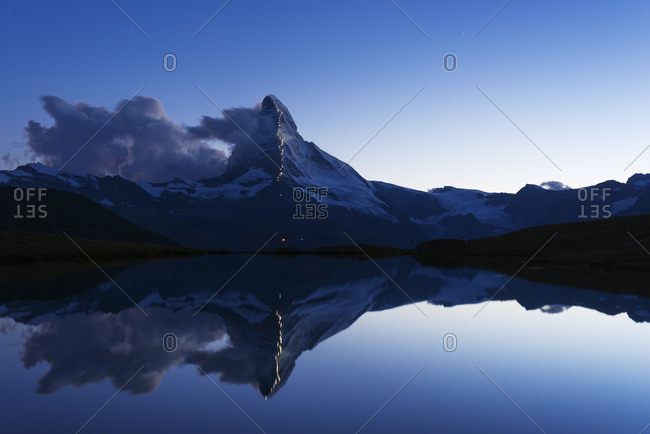 The Matterhorn illuminated, Switzerland - Offset