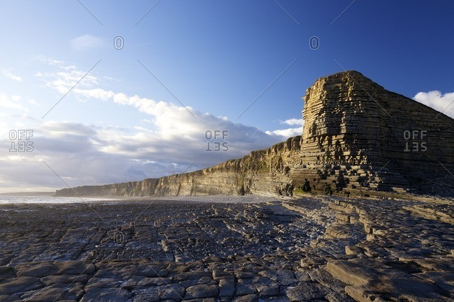 Nash Point in Wales, UK