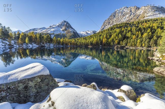 Lake Saoseo in Poschiavo Valley, Switzerland