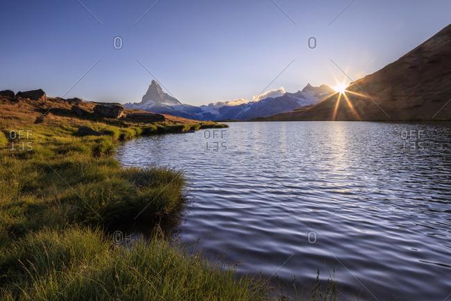 Sunset at Lake Stellisee, Switzerland
