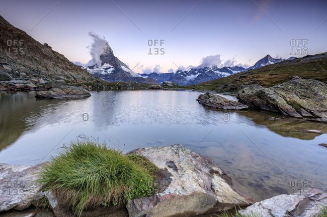 Matterhorn reflection at dawn, Switzerland