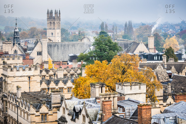 Magdalen College in autumn, Oxford, Oxfordshire, England