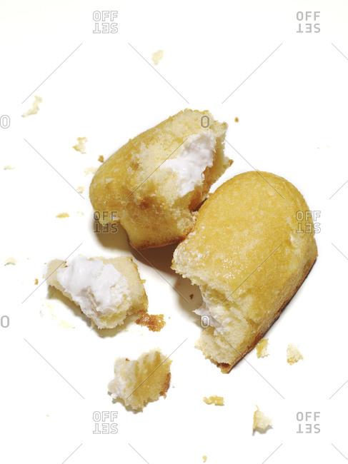 A smashed sponge snack cake