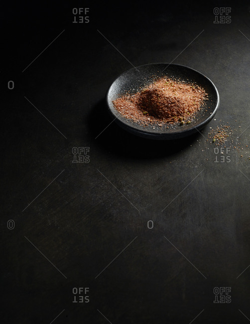 Bowl of seasoning mix