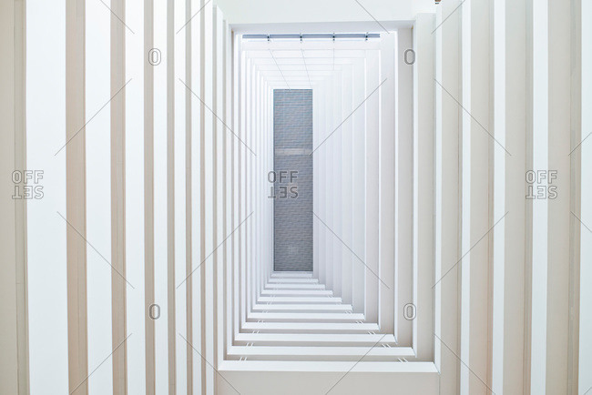 Light filled modern hallway
