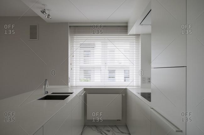A minimal kitchen area