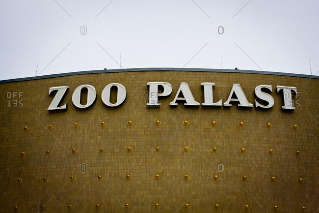 Berlin, Germany - January 30, 2014: Facade detail of the Zoo Palast cinema