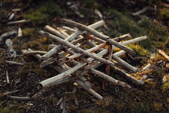 Log Cabin Fire Stock Photos Offset