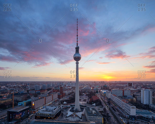 Berlin skyline with television tower