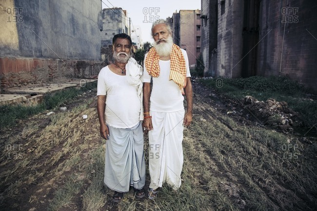Delhi, India - June 22, 2015: Portrait of elders from Indian tribe