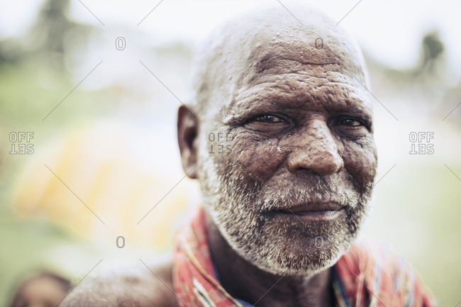 Forbesganj, Bihar, India - July 4, 2015: Portrait of an older man, India