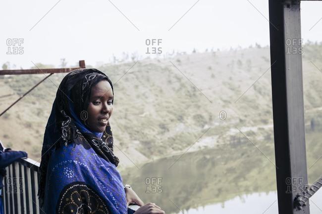 Addis Ababa, Ethiopia - November 26, 2010: Young woman,  Addis Ababa, Ethiopia