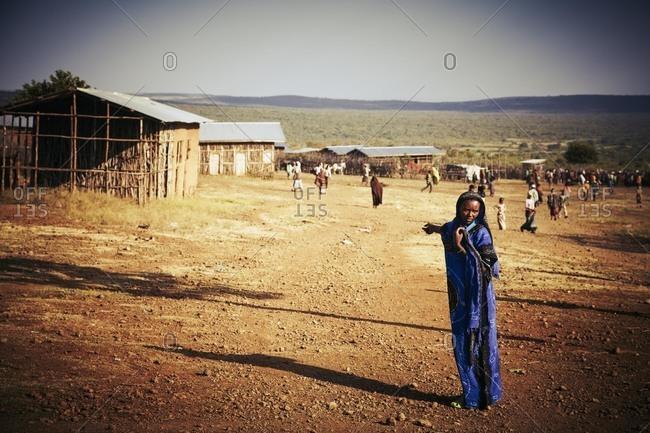 Ethiopia - November 27, 2010: Village in rural Ethiopia
